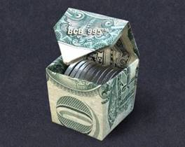 Image result for dollar bill origami