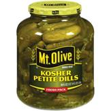 Mt. Olive Kosher Petite Dills Fresh Pack Pickles 46 Oz Jar